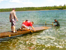 Teen Challenge Saskatchewan - Students Install Water-dock