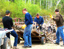 Teen Challenge Saskatchewan - Students Hauling Wood