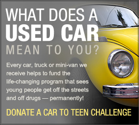 Teen Challenge Saskatchewan Vehicle Donation